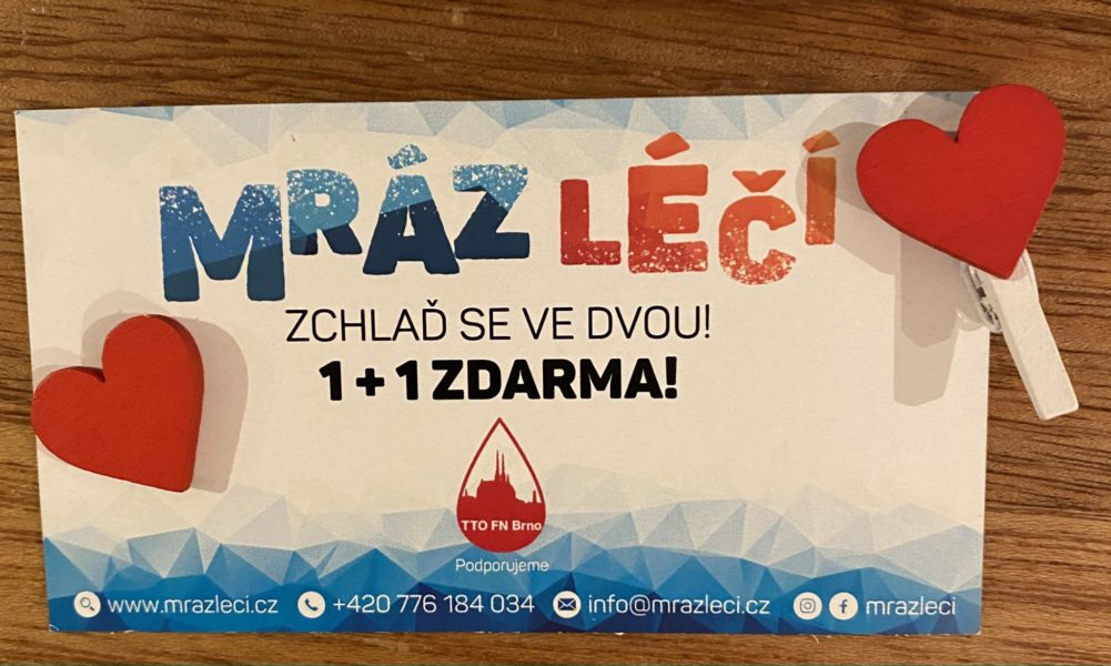 Darování krve s Mráz léčí